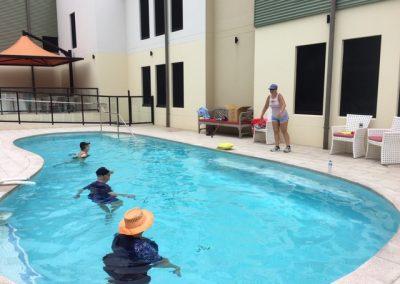 Aqua Aerobics in full swing